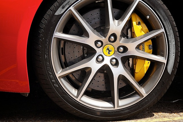 Ferrari Alloy Wheel by Alexandr Pirogov CC0 Public Domain